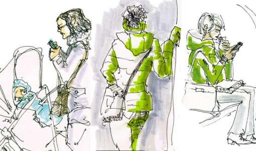 Menschen im Urban Sketching