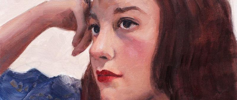 Portrait in Öl